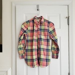 Jcrew plaid button down shirt